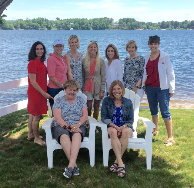 staff at lake