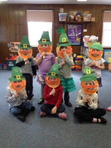 Bearded leprechauns with mustaches