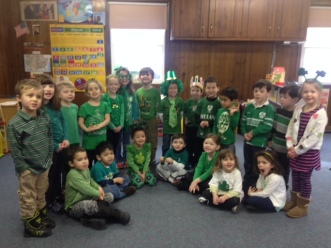 Morning 4 year olds on St Patty's Day